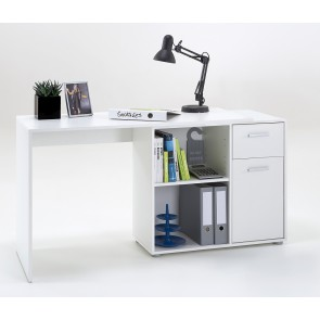 Hoekbureau Albrecht 117 cm breed in wit