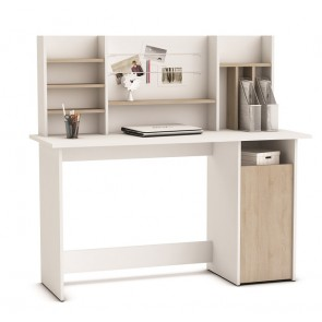 Bureau Ambre 135 cm breed in wit