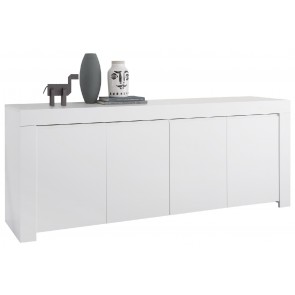 Dressoir Firenze 210 cm breed in mat wit