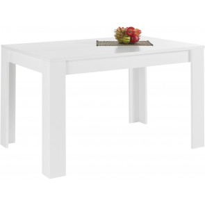 Eettafel Firenze 180 cm breed in mat wit