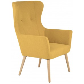 Fauteuil Cotto in mosterd geel