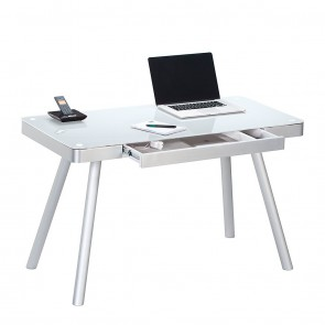 Laptoptafel Urban wit lade open