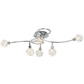 Plafondlamp Joya 110 cm breed in chroom