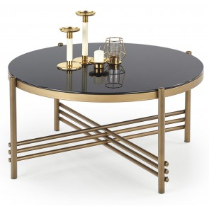 Ronde salontafel Ismena 80 cm breed in zwart