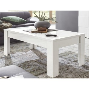 Salontafel Dama 122 cm breed in hoogglans wit