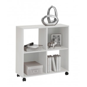 Trolley open kast Mega 4 - Wit