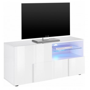 Tv-meubel Dama 121 cm breed in hoogglans wit
