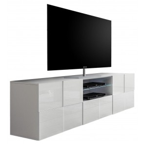 Tv meubel Dama 181 cm breed Hoogglans wit