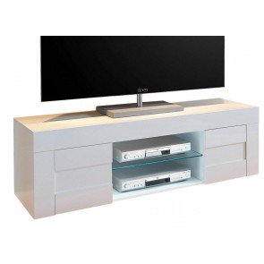 Tv-meubel Easy 138 cm breed hoogglans wit