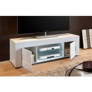 Tv meubel Easy 138 cm breed - hoogglans wit