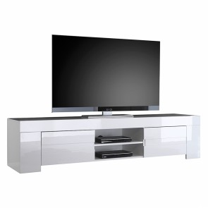 Tv-meubel Esso 190 cm breed in hoogglans wit