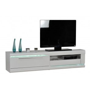 Tv-meubel Ovio 200 cm breed - Hoogglans Wit