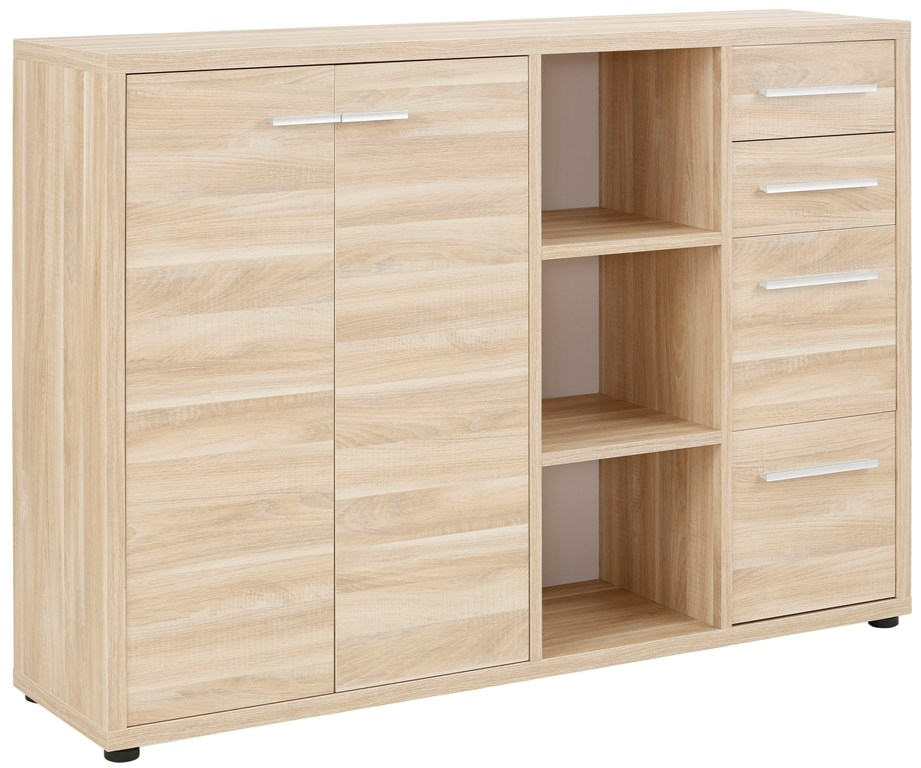 Bermeo tv meubel dressoir Banco 156 cm breed Eiken