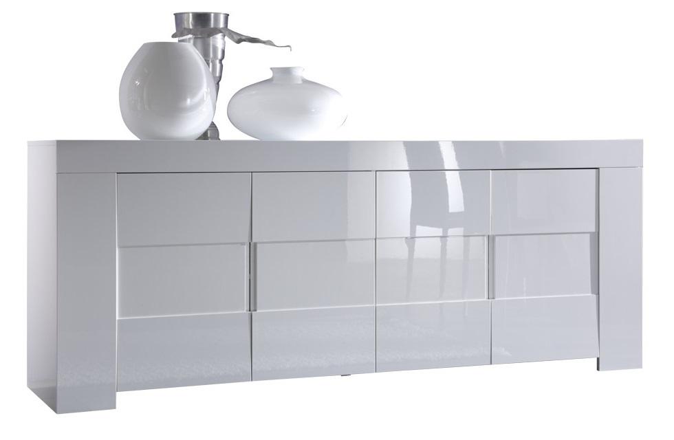 Dressoir Esso 210 cm breed - Hoogglans wit