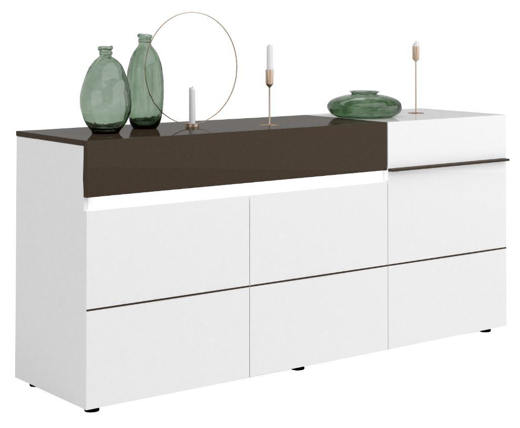 Karat Tv Meubel : Tv meubel karat cm breed hoogglans wit met antraciet reviews