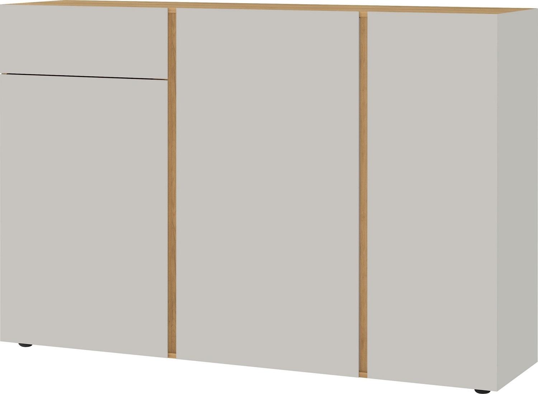 Dressoir Mesa 152 cm breed in Cashmere met navarra eiken