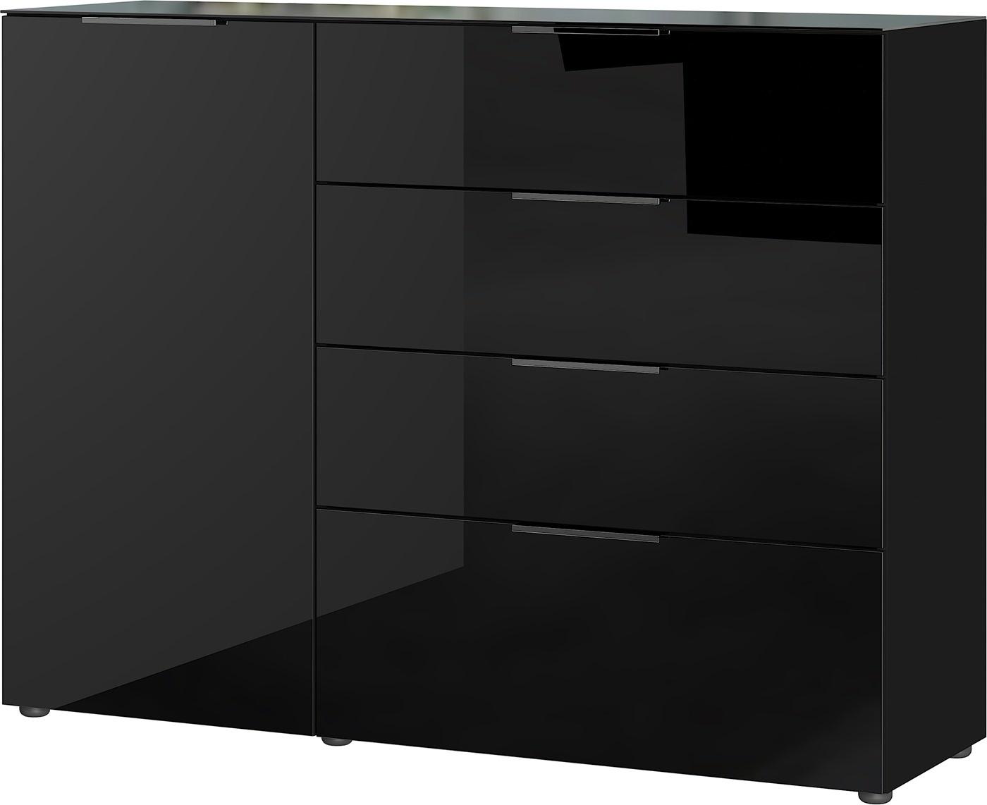 Dressoir Oakland 134 cm breed in zwart