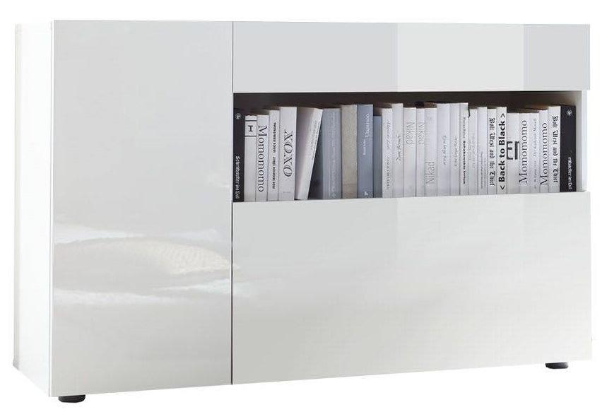 Dressoir Ramon 130 cm breed in hoogglans wit