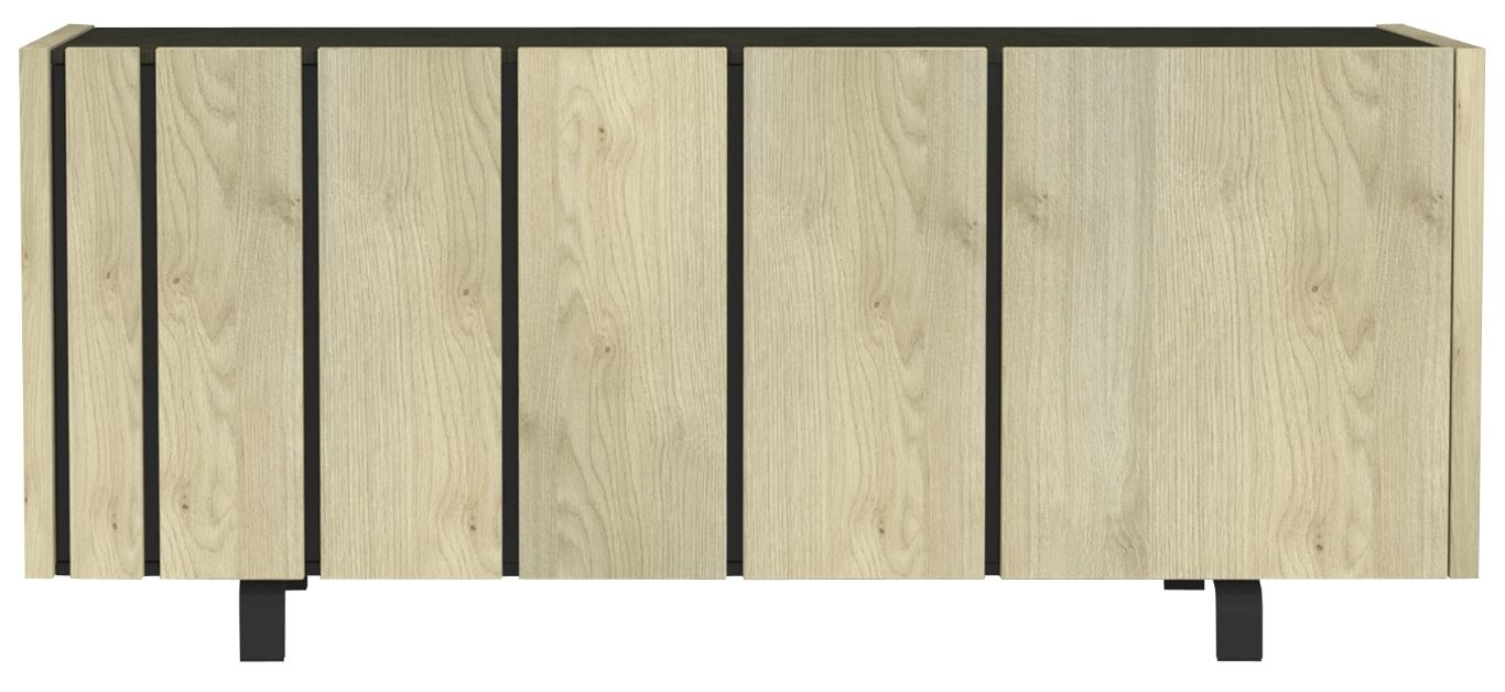 Dressoir Rush 190 cm breed - Naturel eiken