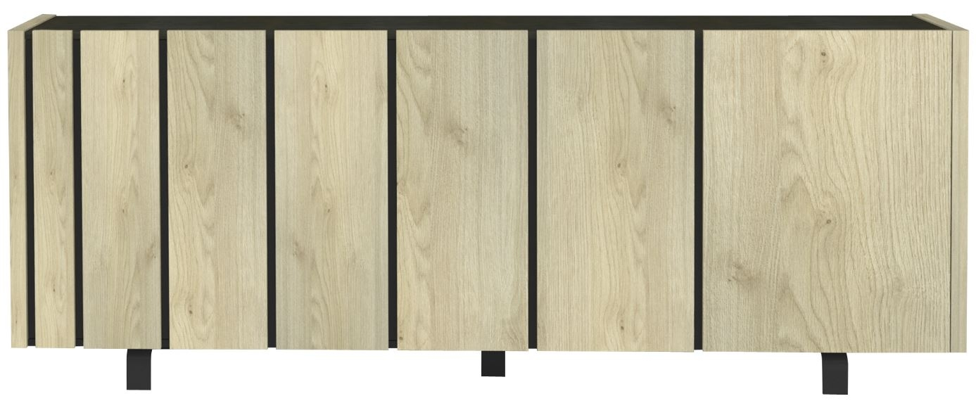 Dressoir Rush 230 cm breed Naturel eiken