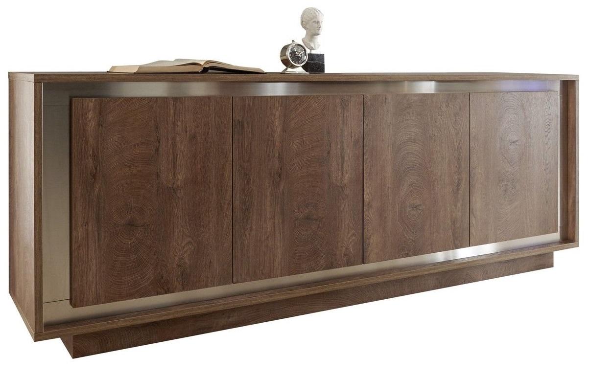 Pesaro Mobilia tv meubel dressoir SKY 207 cm breed Cognac bruin