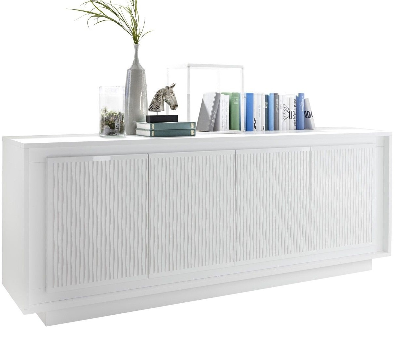 Pesaro Mobilia tv meubel dressoir SKY 207 cm breed Gestreept wit