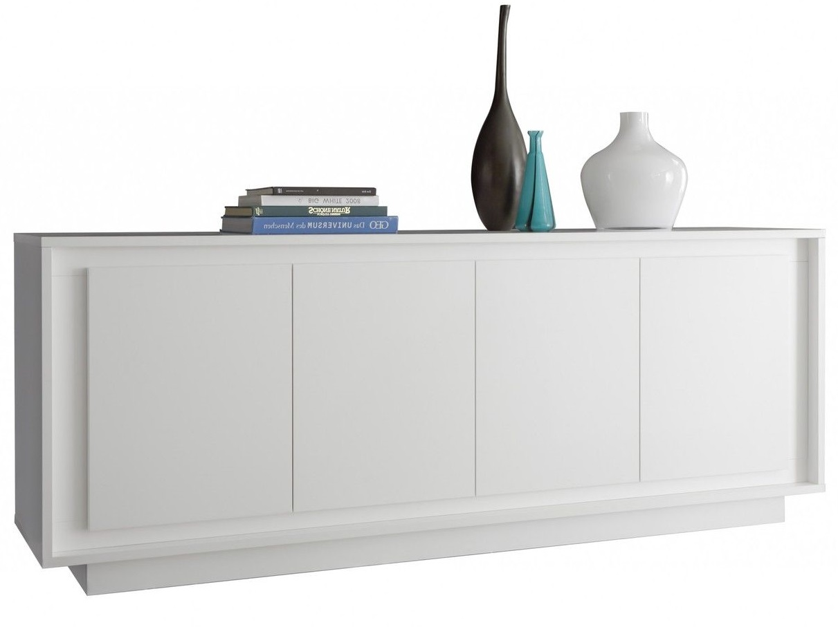Pesaro Mobilia tv meubel dressoir SKY 207 cm breed Wit