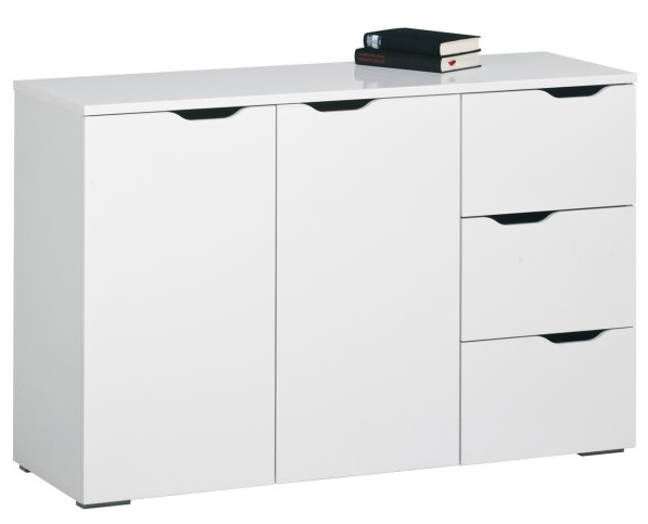 Bermeo tv meubel dressoir Snowy 120 cm breed Hoogglans wit