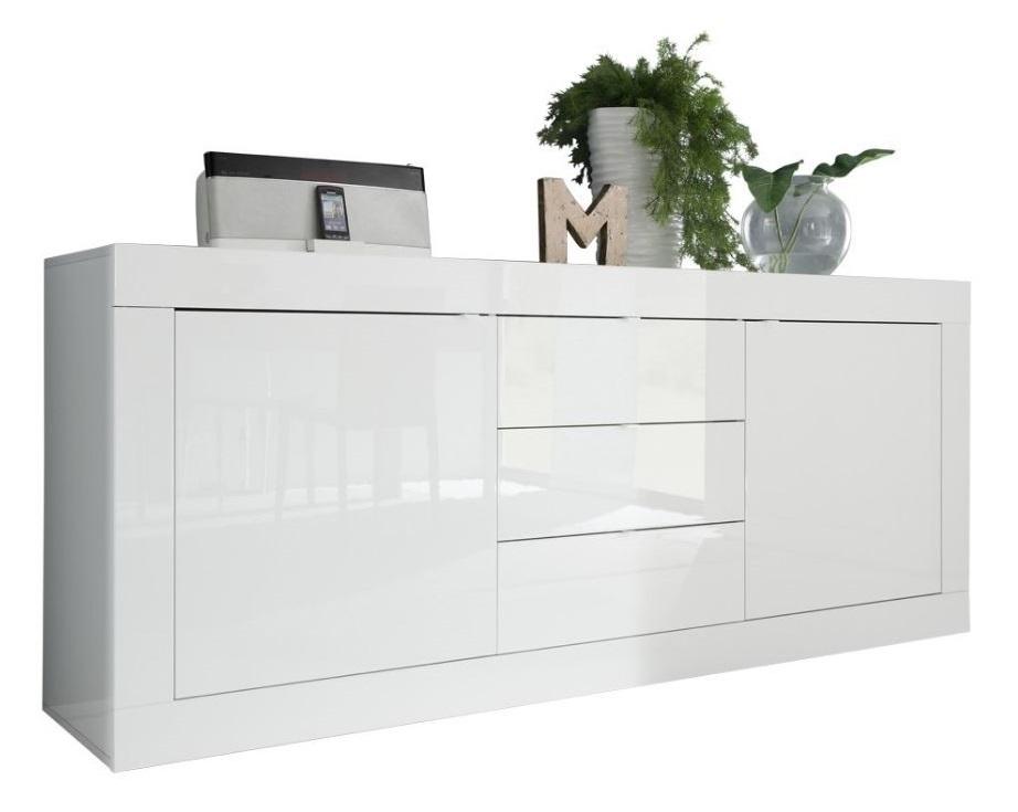 Dressoir Tonic 210 cm Hoogglans wit