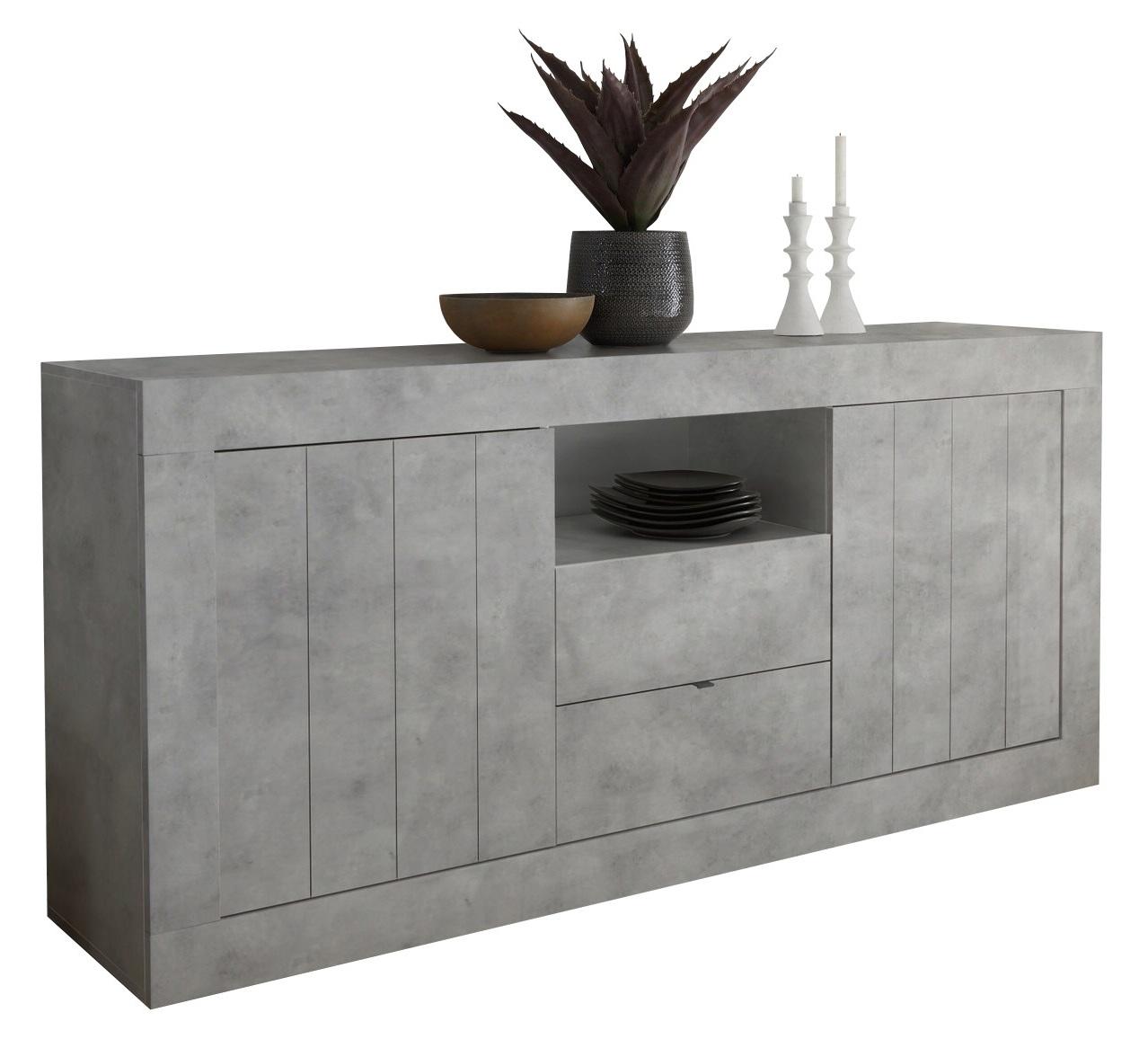 Dressoir Urbino 184 cm breed in grijs beton