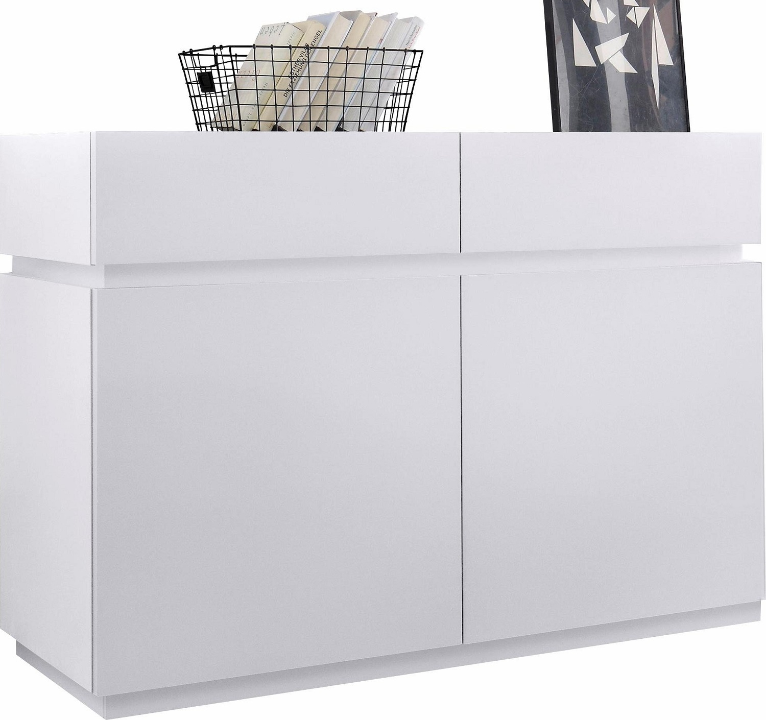 Dressoir Vespa 123 cm breed – mat wit