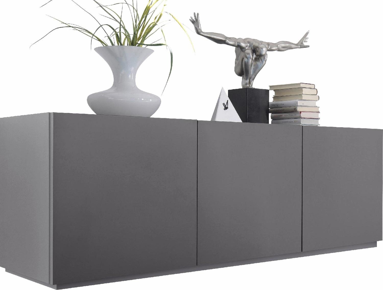 Tv-Meubel/Dressoir Vespa 184 cm breed - Mat grijs