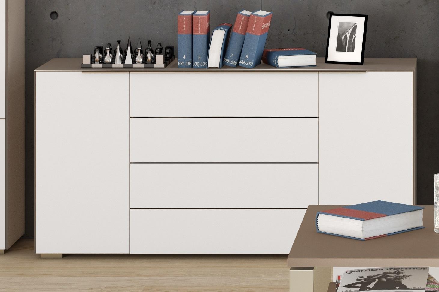 Bermeo tv meubel dressoir Yas 160 cm breed zand met wit