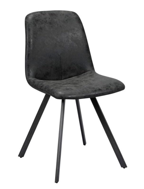 Eetkamerstoel Dayna - 4x Zwart