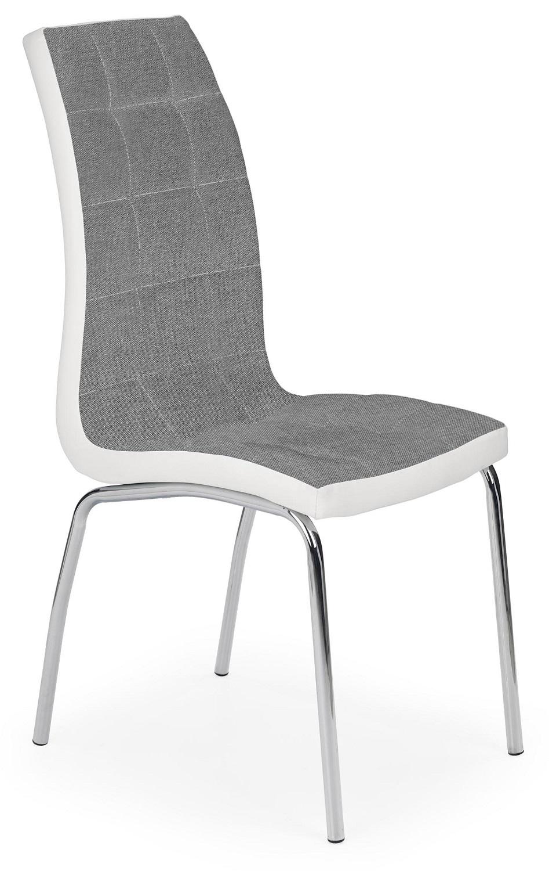 Eetkamerstoel Patas in grijs met wit