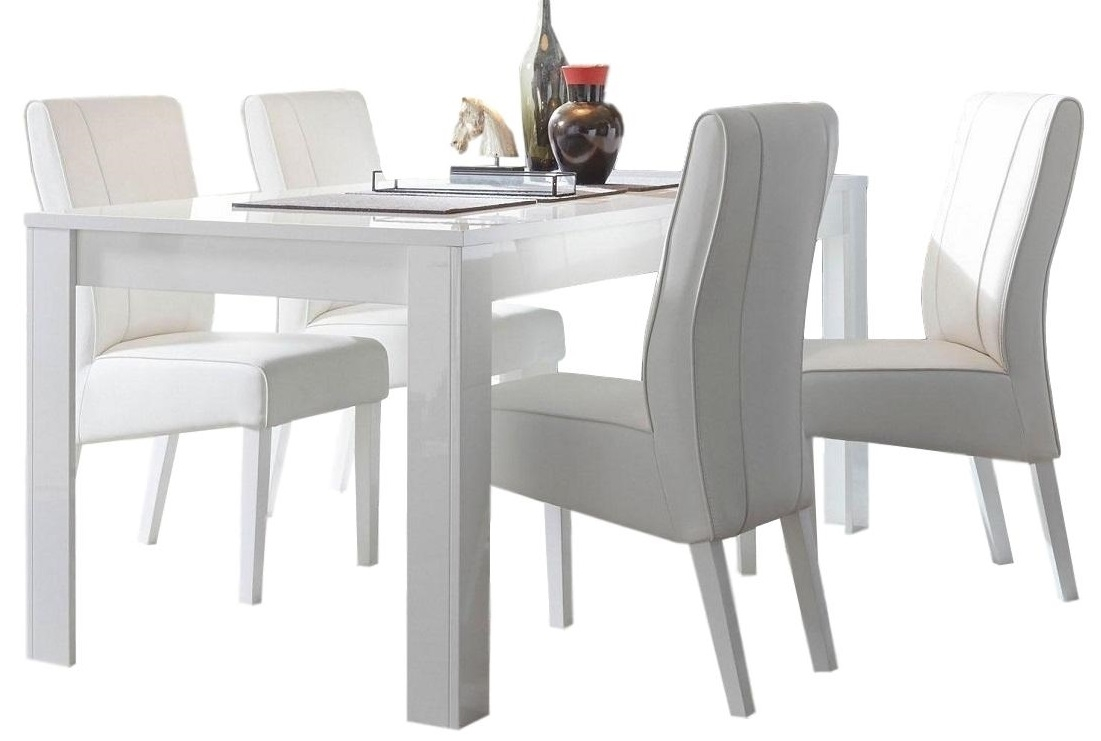 Eettafel Dama 137 cm breed - Hoogglans wit