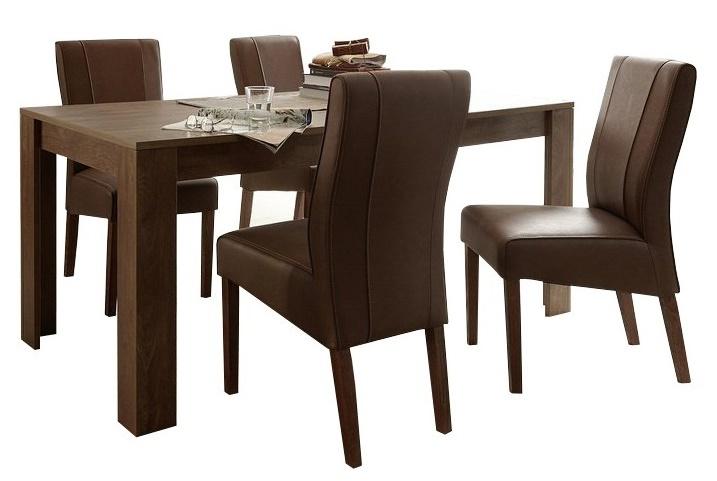 Eettafel SKY 137 cm breed - Cognac bruin