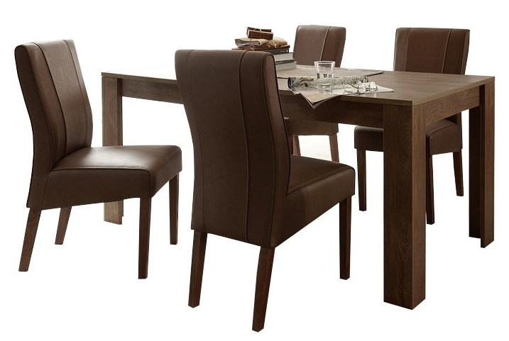 Eettafel SKY 180 cm breed - Cognac bruin
