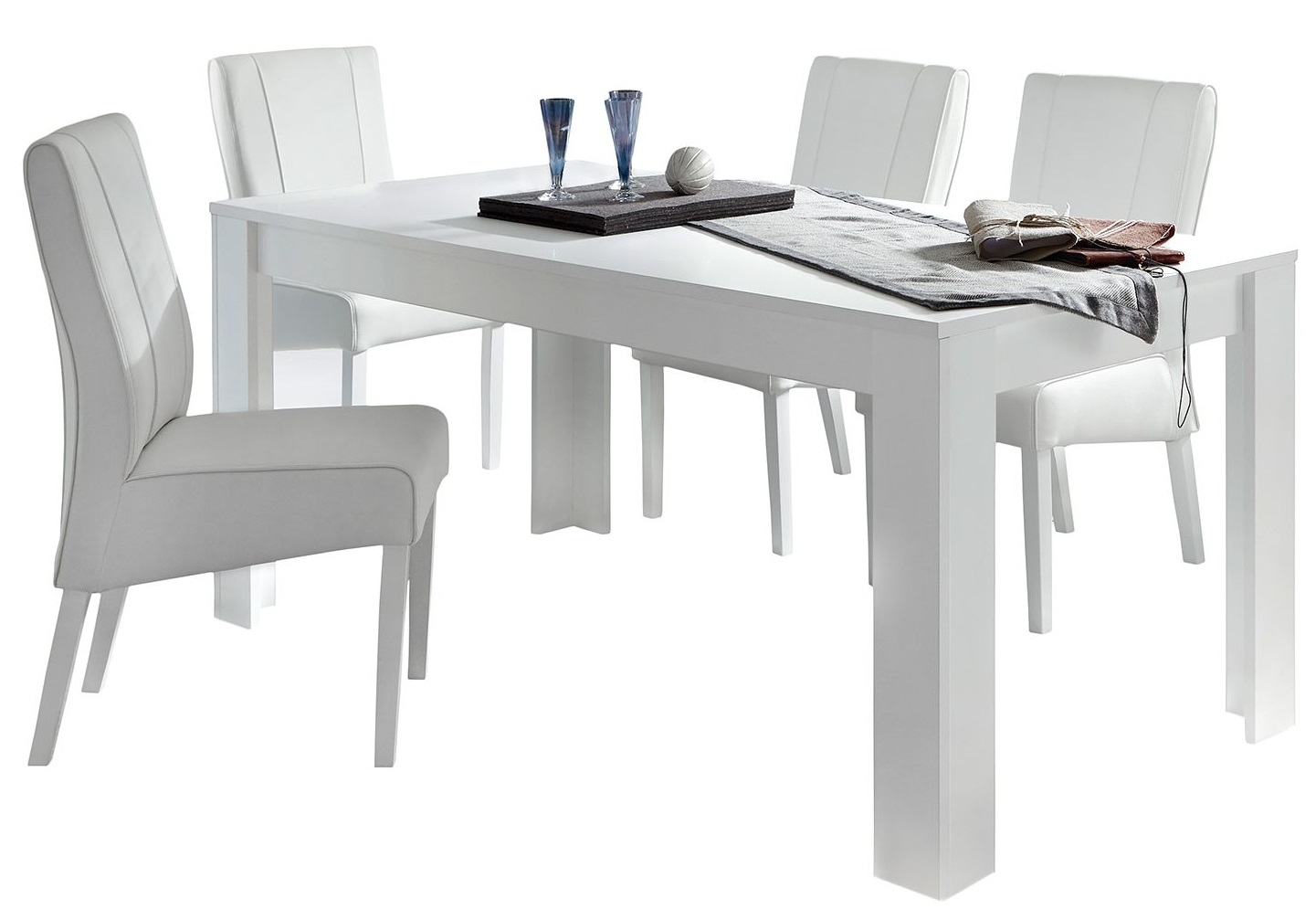 Eettafel Malibu 180 cm breed in wit
