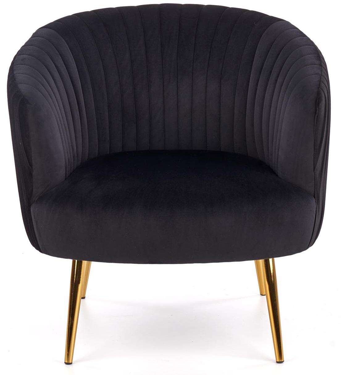 Fauteuil Crown in zwart