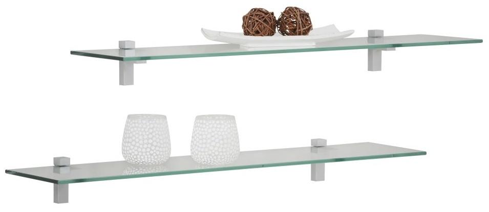 Fristi Boekenplank set 2x70 cm breed - Transparant
