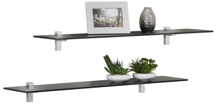 Fristi Boekenplank set 2x70 cm breed - Zwart