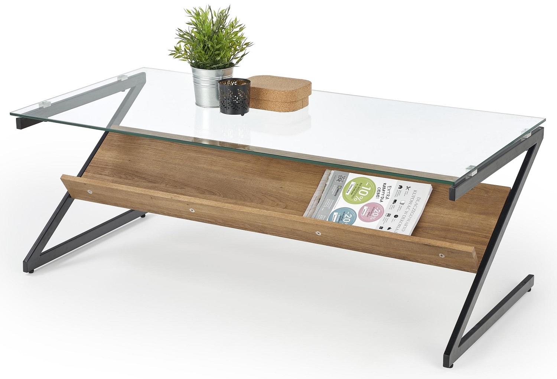 Glazen salontafel Izeda 120 cm breed
