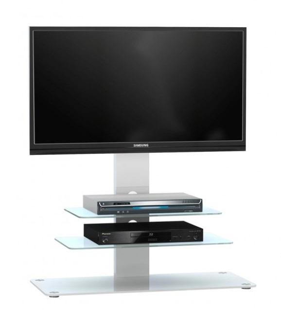 Glazen Tv-meubel Ajax - Wit