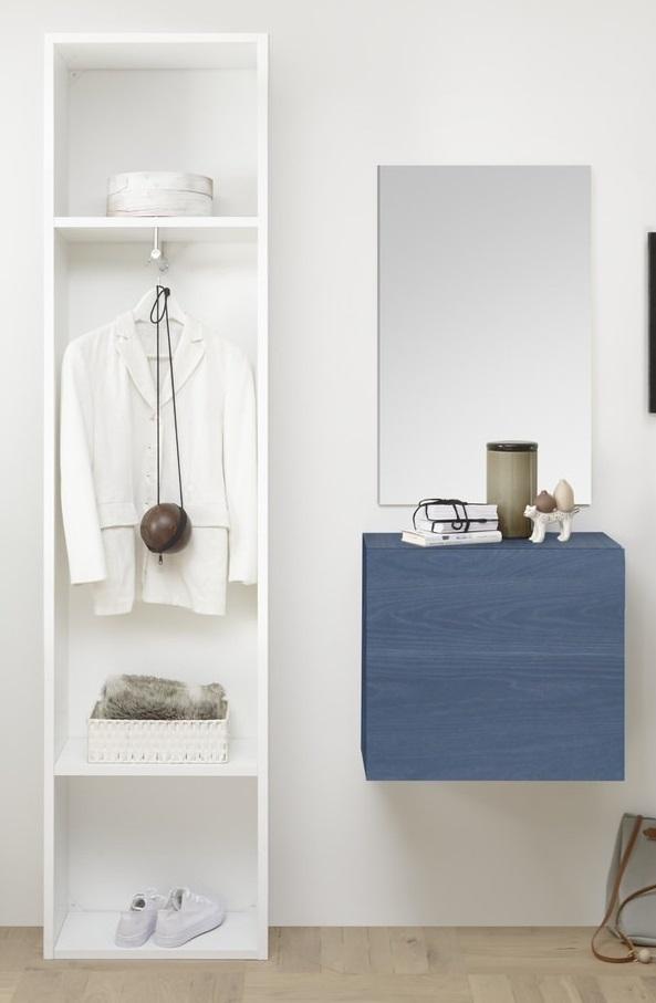 Halmeubelset Bonita 3 delig in wit met blauw