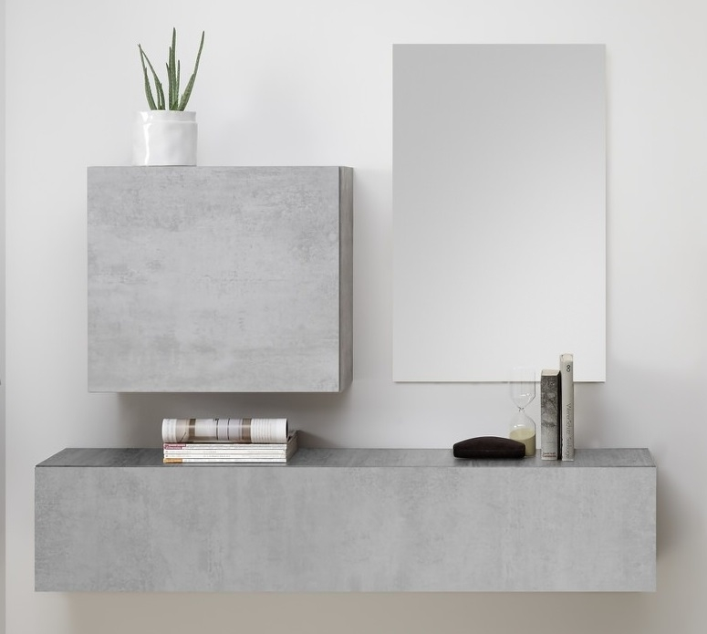 Halmeubelset Shape 3 delig in grijs beton