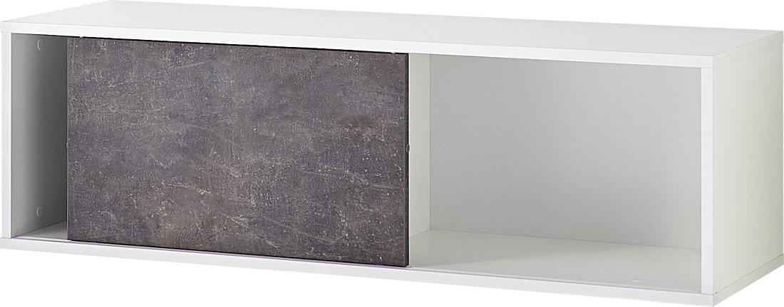 Hangkast Altino 120 cm breed Wit met grijs basalt