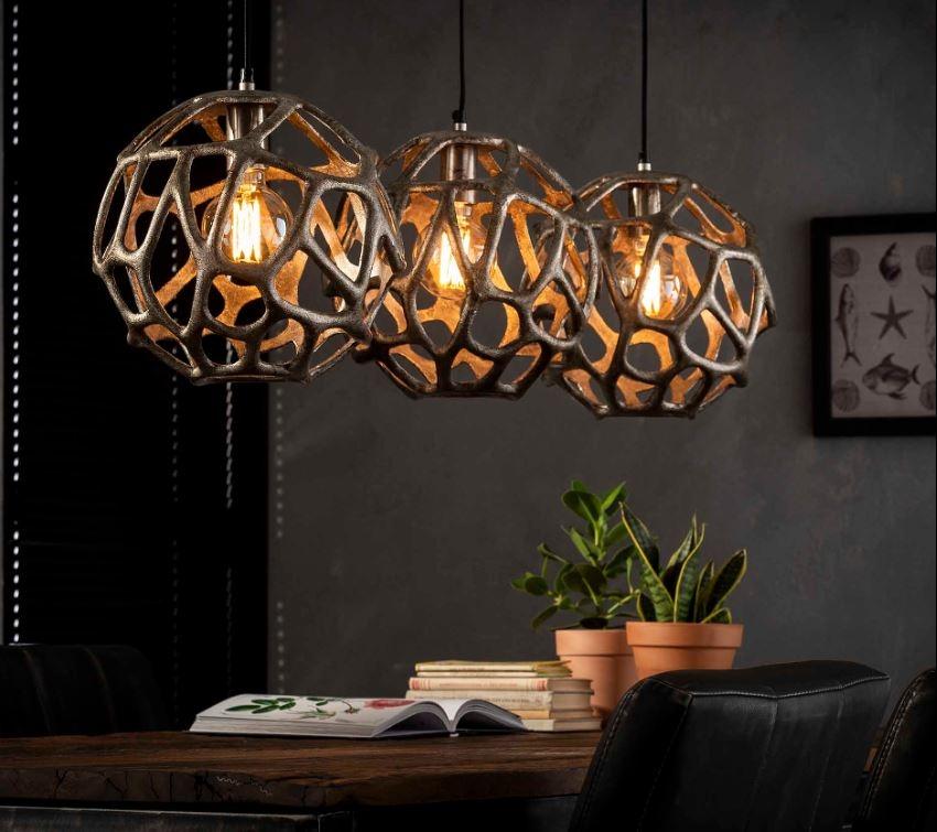 Hanglamp Dolly 120 cm breed in antiek nikkel