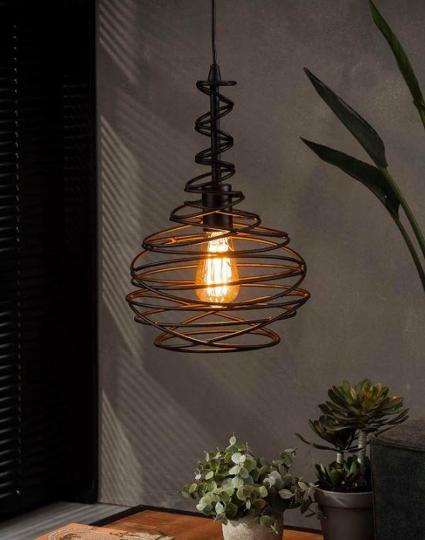 Hanglamp Kegel spin Ø25 in zwart