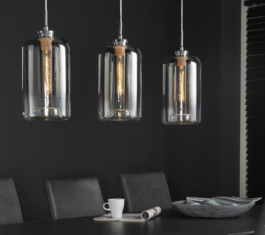 Hanglamp Metallic 100 cm breed met 3xØ18